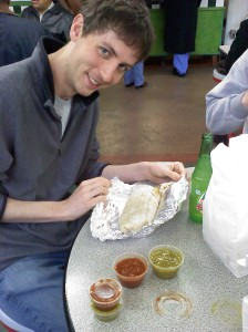 "(Future Doctor) Boy about to go all proctologist on his burrito. ""Please be gentle..."""