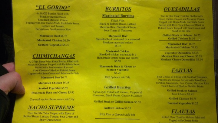well dressed burrito menu