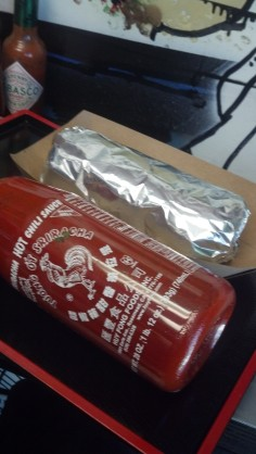 Large sriracha for scale