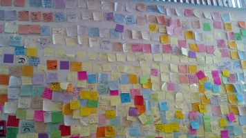 Post it wall