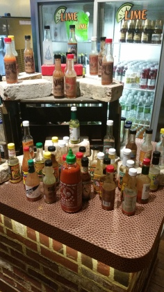 An abundance of hot sauces are usually a bad indicator of ingredient quality