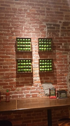 Limes on the wall... represent innocence lost